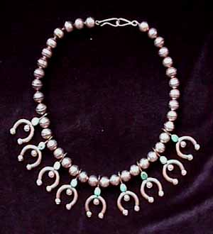 navajo silver horseshoe necklace