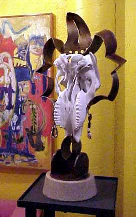Javier Astorga sculpture Mictlantecuhtli
