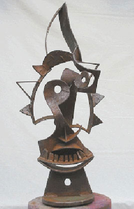 Javier Astorga steel sculpture Tamuin Face