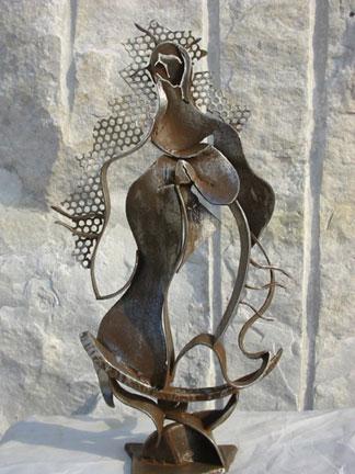 Javier Astorga metal sculpture La Guadalupana