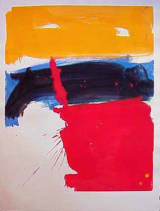 James Burnett abstract painting on paper Wilber Flats 1 Lost Cities