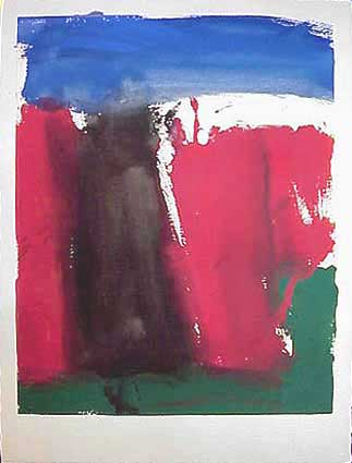 James Burnett abstract painting on paper Wilber Flats 4