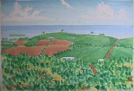 Vieques Horizon watercolor painting James Burnett