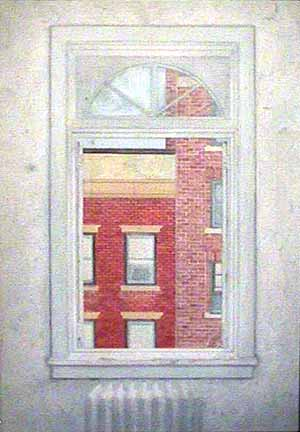 Window West 12th Street watercolor painting James Burnett