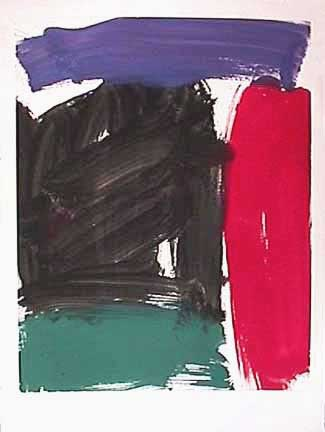 James Burnett abstract painting on paper Wilbur Flats 11