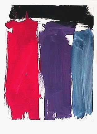 James Burnett abstract painting on paper Wilbur Flats 12