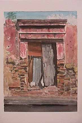 James Burnett watercolor painting Oaxaca Series 4
