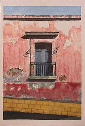 James Burnett watercolor painting Oaxaca Series 5