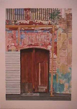 James Burnett watercolor painting Oaxaca Series 1