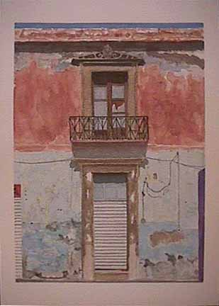 James Burnett watercolor painting Oaxaca Series 2