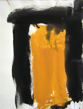 James Burnett abstract painting on paper Wilbur Flats 21