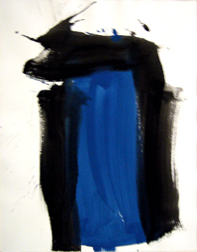 James Burnett abstract painting on paper Wilbur Flats 22