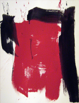 James Burnett abstract painting on paper Wilbur Flats 23