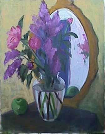 Kate Wattson flower painting Romantic Peonies
