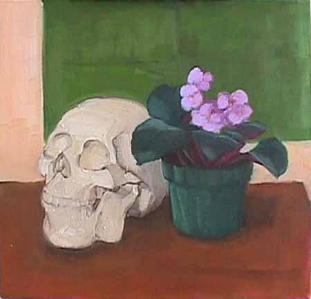 Wattson vanitas painting Grandma's Violet