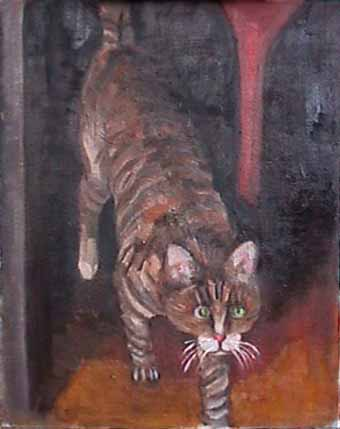 Kate Wattson cat painting Martha Meow