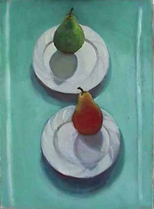 Wattson still life Nighttime with Pears