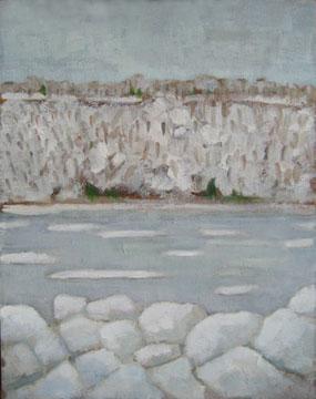 Kate Wattson landscape Ice on the Hudson