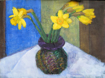 Kate Wattson still life Spring Daffodils