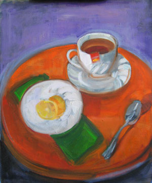 Kate Wattson still life Tea Time
