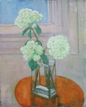 Kate Wattson still life floral White Hydrangeas