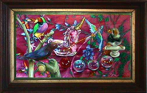 Lisa Dinhofer still life painting Aviary