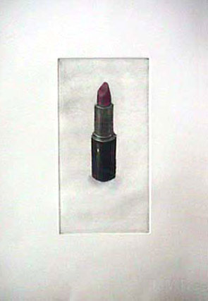 Lisa DINHOFER lipstick print etching