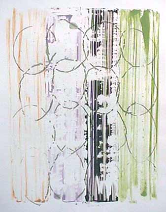 Nancy Van Deren monoprint Descending
