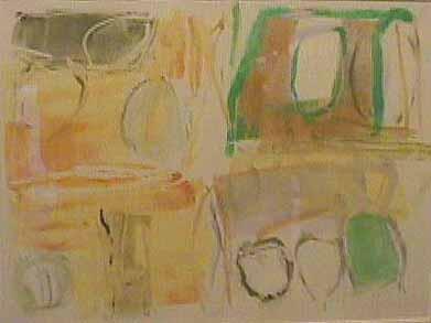 Nancy Van Deren monotype Early Sky Gold Evening