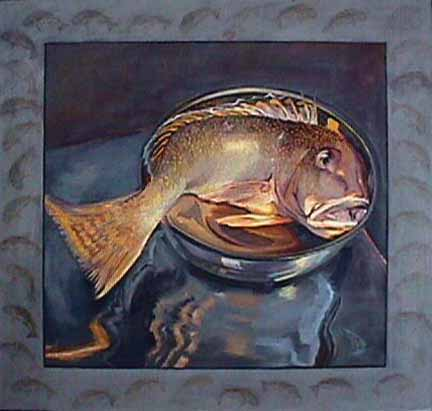 Patricia Hansen still life painting Golden Fish