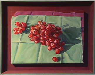 Patricia Hansen fruit still life painting FlameGrapes