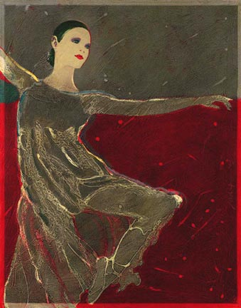 Ballet In Redclassical ballet painting Reed Dixon