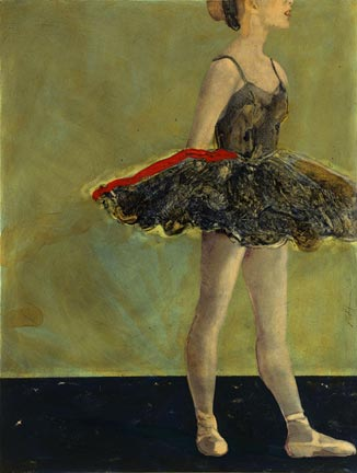 Resting classical ballet painting Reed Dixon