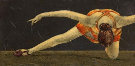 The Bow  classical ballet painting Reed Dixon
