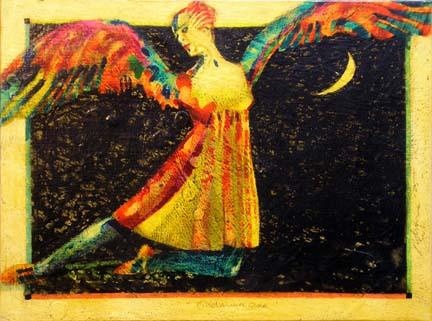 Birdarina 1 fantasy painting Reed Dixon