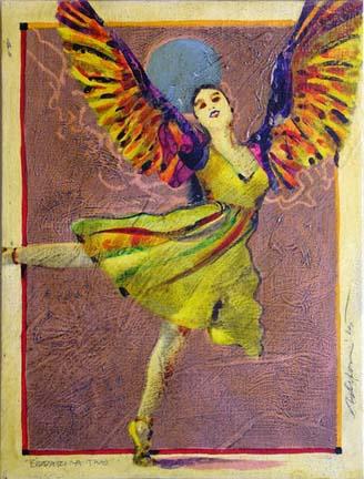 Birdarina 2 fantasy painting Reed Dixon