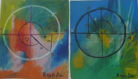 Reginald K. Gee paintings Quadrant 1 and 2