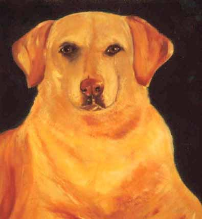 Ron Mallory Golden retriever painting